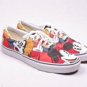 Vans Disney Mickey Pluto Donald Goofy Men Shoe 11